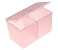 "Бокс ""2 ящика"" прозрачно-розовый"