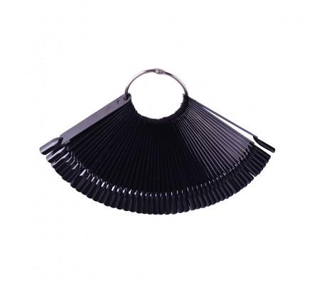 Палитра на кольце классика 50 ноготков - черная