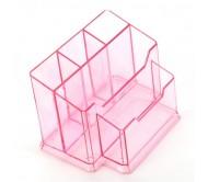 Подставка для кистей № 77 прозрачно-розовая